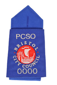 Epaulette for Police Community Support Officer in Bristol