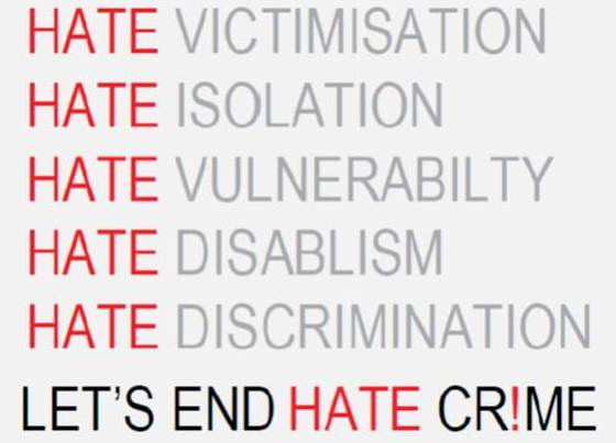 Let's end hate crime logo