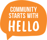 Community Starts With Hello -Logo -Colour