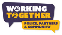 Working Together - Police, Partners & Community logo
